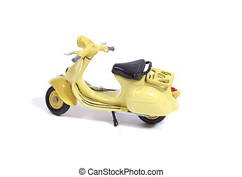 Replica of a scooter - Toy model of a famous scooter in...