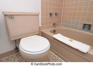 Simple interior of toilet