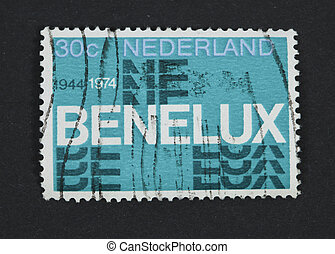 Benelux postage stamp - THE NETHERLANDS-CIRCA 1974: Postage...