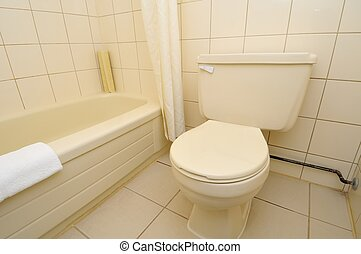 Clean and luxurious toilet - Interior of clean and luxurious...