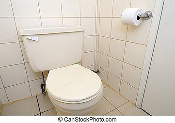 toaleta, papier, czysty