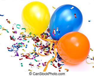ballons and confetti