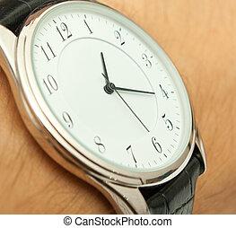 close up shot of a wrist watch...