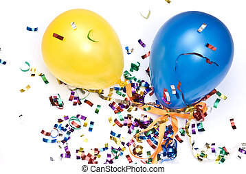 ballons and confetti