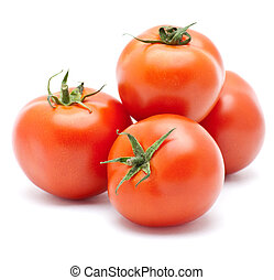 Juicy isolated tomato.