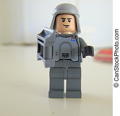 Lego man wearing shield and helmet - Lego man wearing a...