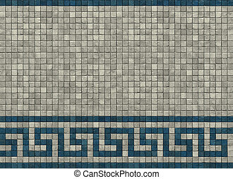 3d render of a typical Greek Roman meander pattern in white...