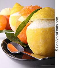 orange and lemon sorbet