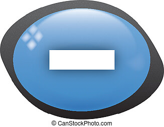 less icon - less oval blue icon