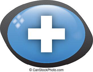 plus icon - plus oval blue icon