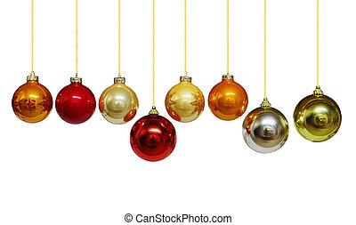 Christmas Balls - Set of Christmas ornament balls isolated...