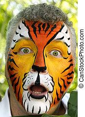 Surprised Tiger Man