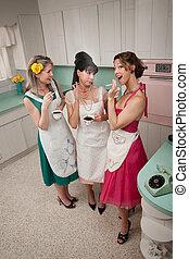 Three Women Gossiping