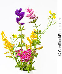 Wild flowers bouquet - Colorful wild flower bouquet isolated...