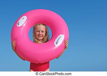 summer beach kid