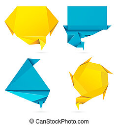 Origami Style Speech Bubble