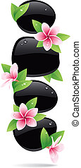 Spa Background - Spa background of black pebbles decorated...
