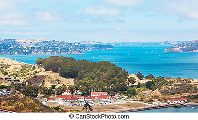 Marin Headlands - San Francisco bay by the Golden Gate...