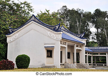 Ancient buildings of typical Chinese style in a park