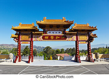 Hsi Lai Temple Gate - Gates of the Hsi Lai Temple in...