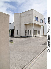 building work - commercial building with dock for large...