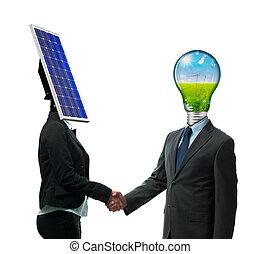 新しい, エネルギー, 合意