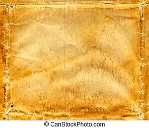 Old Wrinkled Paper - A vintage paper background with folds,...