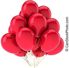Red party balloons decoration
