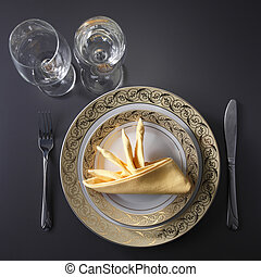 Table setting - table setting for fine dining or party....