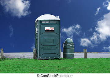 Portable toilet - portable toilet in the park