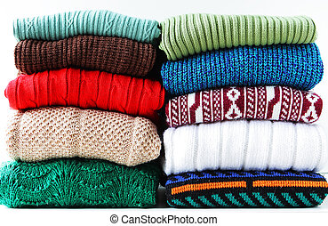 Sweaters - Stack of sweaters