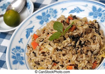 Healthy olive fried rice