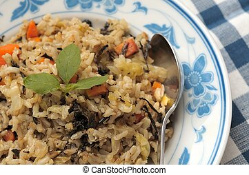 Authentic vegetarian fried rice