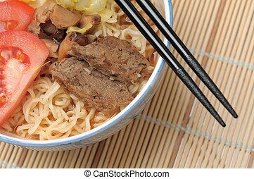 Spicy mutton noodles