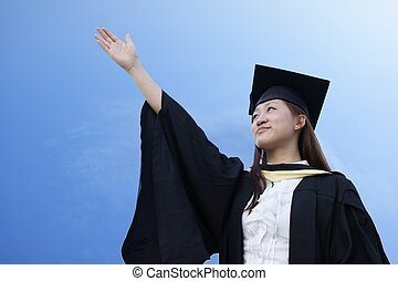 Aspiring asian graduate lady - Aspiring asian graduate with...