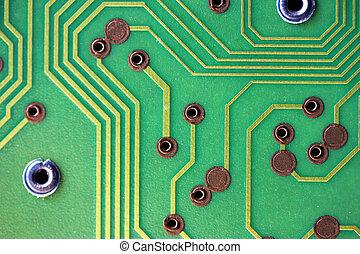 Green circuitboard