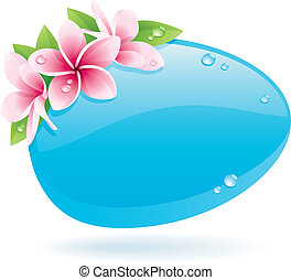 Spring Background - Spring background of glossy bubble...