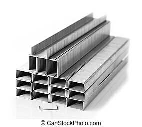 Staples2 - Pile of staples strips isolated on white