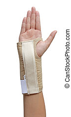 Hand Wrist support - Carpals tunnel syndrome hand with a...