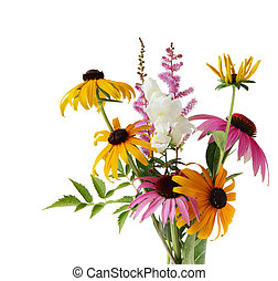 Summer flowers - Bouquet of summer flowers isolated on white