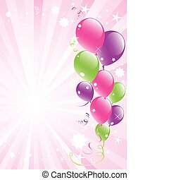 festive balloons and lightburst - vector festive balloons...