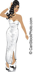 White Wedding Gown - Vector White Wedding Gown, can be used...
