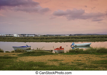 Ayamonte, Spain - Landscape Ayamonte town in the border...