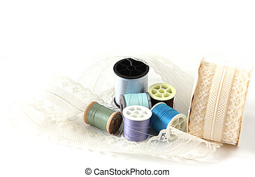 Lace and thread