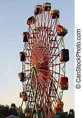 Carnival Wheel - Silhouette of Carnival Ride