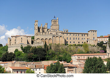 Beziers cathedral - gothic architecture of Beziers...