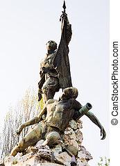 war memorial - close up of war memorial in square at stra...