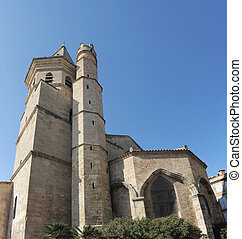Sainte Madeleine church, Beziers in Languedoc Roussillon,...