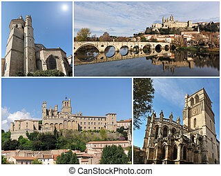 churches of Beziers - gothic architecture of Beziers...