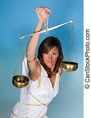 Scales or Libra woman - Libra or Scales, this photo is part...